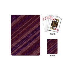Stripes Course Texture Background Playing Cards (mini)