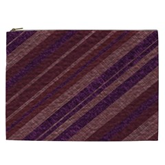 Stripes Course Texture Background Cosmetic Bag (XXL)