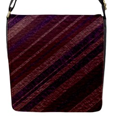 Stripes Course Texture Background Flap Messenger Bag (s)