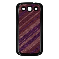 Stripes Course Texture Background Samsung Galaxy S3 Back Case (Black)