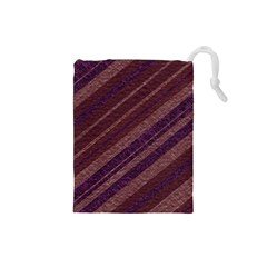 Stripes Course Texture Background Drawstring Pouches (Small)