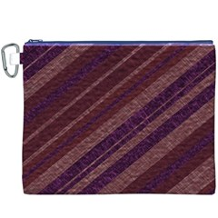 Stripes Course Texture Background Canvas Cosmetic Bag (XXXL)