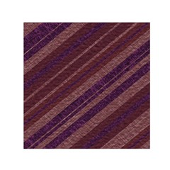 Stripes Course Texture Background Small Satin Scarf (Square)