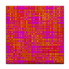 Pink Orange Bright Abstract Tile Coasters