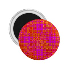 Pink Orange Bright Abstract 2.25  Magnets