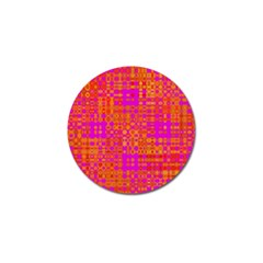 Pink Orange Bright Abstract Golf Ball Marker