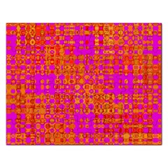 Pink Orange Bright Abstract Rectangular Jigsaw Puzzl
