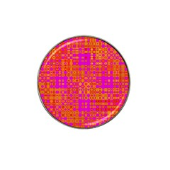 Pink Orange Bright Abstract Hat Clip Ball Marker (10 pack)