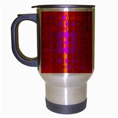 Pink Orange Bright Abstract Travel Mug (silver Gray)
