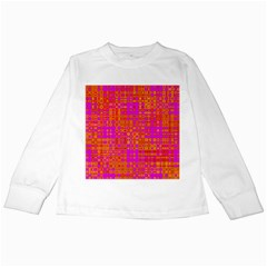 Pink Orange Bright Abstract Kids Long Sleeve T Shirts