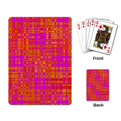 Pink Orange Bright Abstract Playing Card