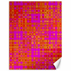 Pink Orange Bright Abstract Canvas 12  x 16
