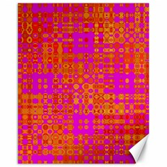 Pink Orange Bright Abstract Canvas 16  x 20