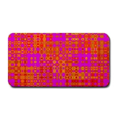 Pink Orange Bright Abstract Medium Bar Mats