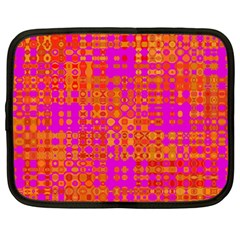 Pink Orange Bright Abstract Netbook Case (Large)