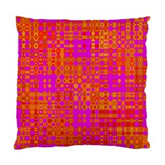 Pink Orange Bright Abstract Standard Cushion Case (Two Sides)