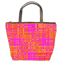 Pink Orange Bright Abstract Bucket Bags