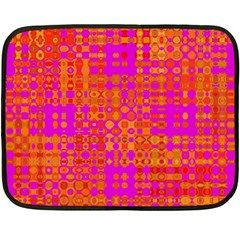 Pink Orange Bright Abstract Double Sided Fleece Blanket (Mini)