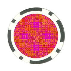Pink Orange Bright Abstract Poker Chip Card Guard (10 pack)
