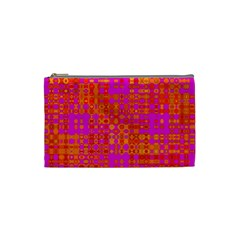 Pink Orange Bright Abstract Cosmetic Bag (Small)