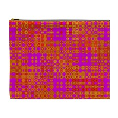 Pink Orange Bright Abstract Cosmetic Bag (xl)