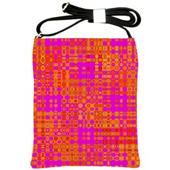 Pink Orange Bright Abstract Shoulder Sling Bags