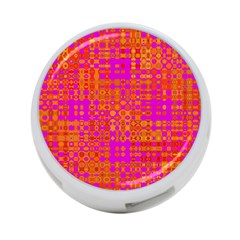 Pink Orange Bright Abstract 4-Port USB Hub (Two Sides)