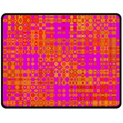 Pink Orange Bright Abstract Fleece Blanket (Medium)