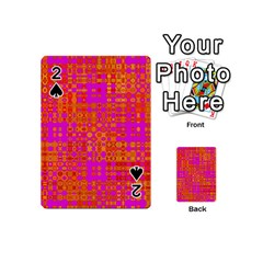 Pink Orange Bright Abstract Playing Cards 54 (Mini)