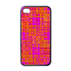 Pink Orange Bright Abstract Apple iPhone 4 Case (Black)
