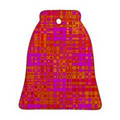 Pink Orange Bright Abstract Ornament (Bell)