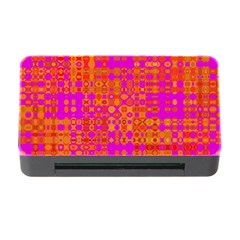 Pink Orange Bright Abstract Memory Card Reader With Cf