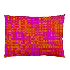 Pink Orange Bright Abstract Pillow Case (two Sides)
