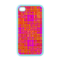 Pink Orange Bright Abstract Apple Iphone 4 Case (color)