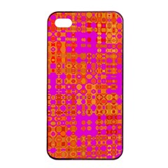Pink Orange Bright Abstract Apple Iphone 4/4s Seamless Case (black)