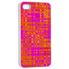 Pink Orange Bright Abstract Apple Iphone 4/4s Seamless Case (white)
