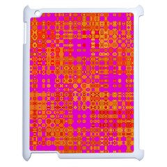 Pink Orange Bright Abstract Apple iPad 2 Case (White)