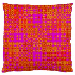 Pink Orange Bright Abstract Large Cushion Case (Two Sides)