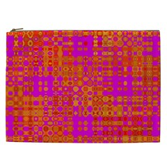 Pink Orange Bright Abstract Cosmetic Bag (xxl)