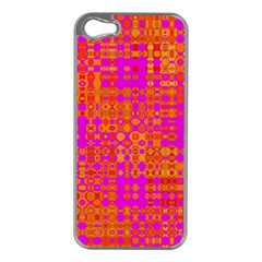 Pink Orange Bright Abstract Apple Iphone 5 Case (silver)