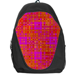 Pink Orange Bright Abstract Backpack Bag