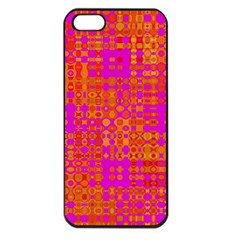 Pink Orange Bright Abstract Apple Iphone 5 Seamless Case (black)