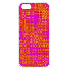 Pink Orange Bright Abstract Apple iPhone 5 Seamless Case (White)