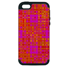 Pink Orange Bright Abstract Apple iPhone 5 Hardshell Case (PC+Silicone)