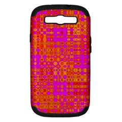 Pink Orange Bright Abstract Samsung Galaxy S Iii Hardshell Case (pc+silicone)
