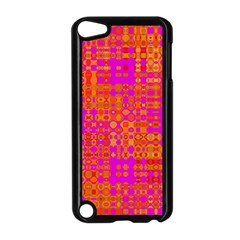 Pink Orange Bright Abstract Apple Ipod Touch 5 Case (black)