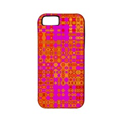 Pink Orange Bright Abstract Apple Iphone 5 Classic Hardshell Case (pc+silicone)