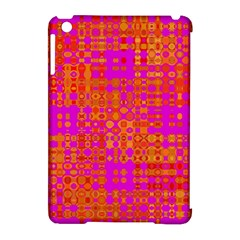 Pink Orange Bright Abstract Apple iPad Mini Hardshell Case (Compatible with Smart Cover)