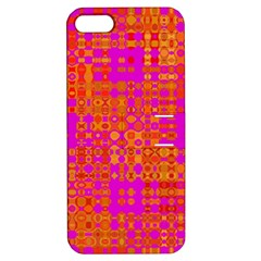 Pink Orange Bright Abstract Apple iPhone 5 Hardshell Case with Stand