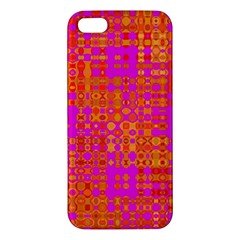 Pink Orange Bright Abstract Apple Iphone 5 Premium Hardshell Case
